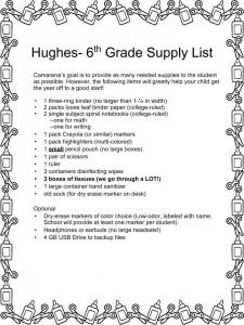 Hughes Supply List.pptx